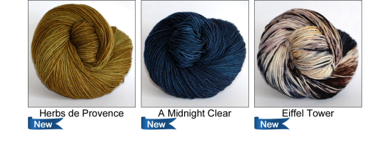 Fall 2015 Colourways by Ancient Arts Yarns - Inspired by France