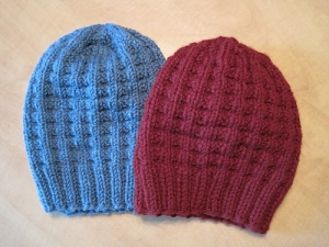 Bulky Waffle Hat - 1 skein Big Squeeze