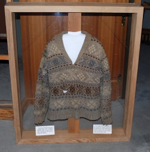 A Cowichan style sweater knit by Barb's grandmother.