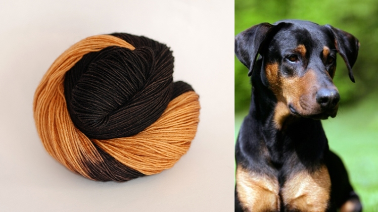 Black and Tan, a new color in the Woof collection from Ancient Arts Yarn.
