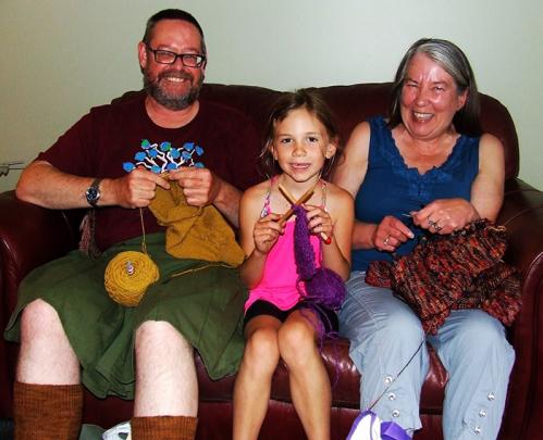 Three Knitters, three styles.