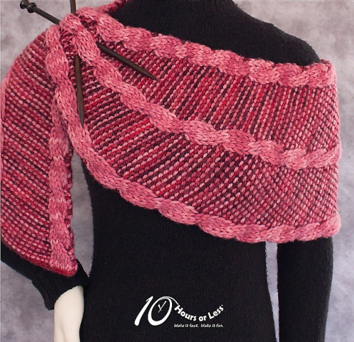 Rope Edged Rafters Shawl