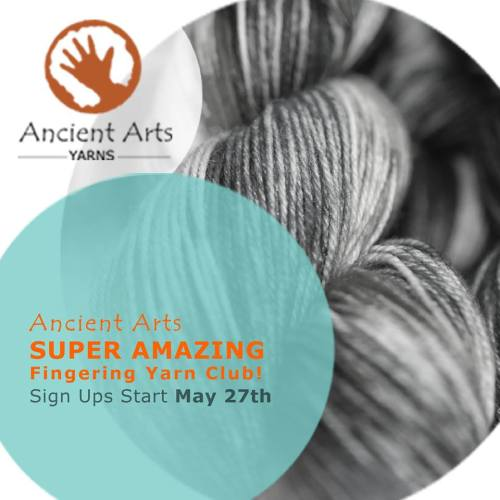 Join the Ancient Arts Yarn Super Amazing yarn club!