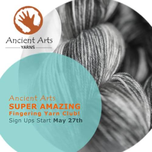 Join the Ancient Arts Yarn Super Amazing yarn club!